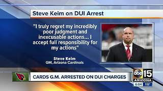Arizona Cardinals GM Steve Keim arrested for DUI in Chandler - Video