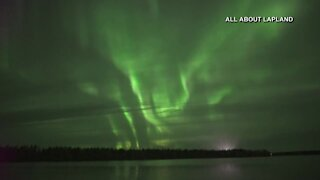 Beautiful display of the northern lights overnight in Finland