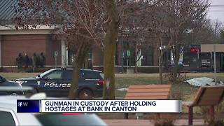 Canton bank robbery suspect now in police custody - Video