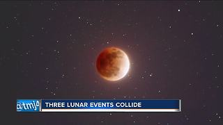 Three lunar events to collide early Wednesday morning - Video