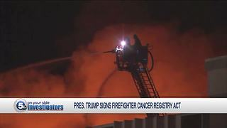 President Trump signs Firefighter Cancer Registry Act