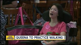 Bloomingdale Library attack victim Queena Vuong to practice walking at recovery center - Video