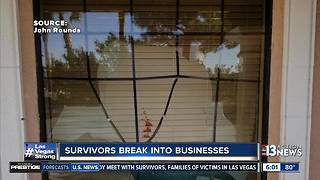 Nearby businesses broken into as concert-goers scramble for safety - Video