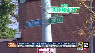 Man fatally shot on York Rd Saturday evening - Video