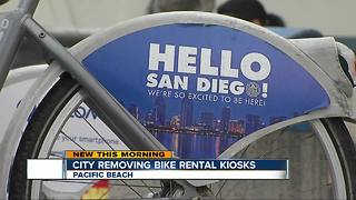 City removing bike rental kiosks at beaches - Video
