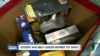 Student who beat cancer inspires toy drive