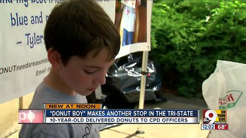 'Donut Boy' pays a visit to Cincinnati Police Department