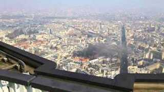 Smoke From Paris Explosion Seen From Top of Montparnasse Tower - Video
