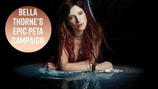 Bella Thorne trash-talks SeaWorld in PETA ad