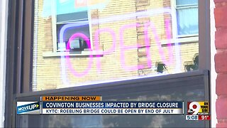 Covington businesses impacted by bridge closure