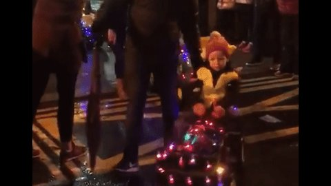 Tractors Large and Small Spread Festive Cheer Across Irish Town