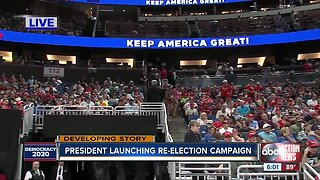 President Trump launches re-election campaign | June 18 6 pm