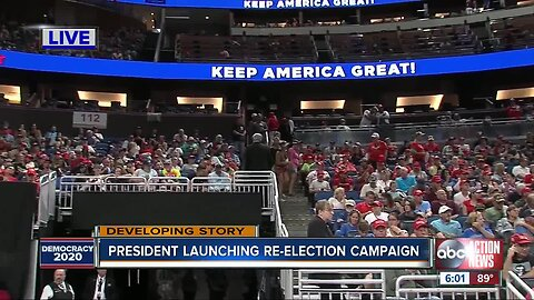 President Trump launches re-election campaign   June 18 6 pm
