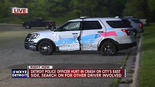 Detroit police officer hurt in crash overnight