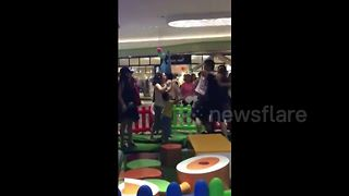 Parents get into vicious brawl in mall playground in China - Video