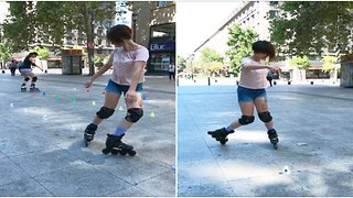 Roller skate tricks in Santiago, Chile