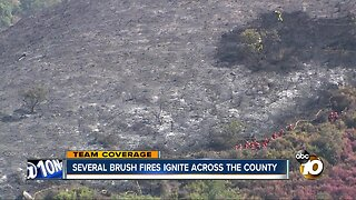 Several brush fires ignite across the county