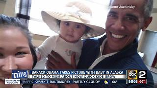 Picture of Barack Obama holding baby goes viral - Video