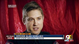 Ohio State University Police Officer Alan Horujko talks about ending on-campus attack - Video