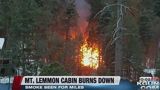Mt. Lemmon Fire burns down a cabin - Video