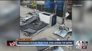 Thousands stolen from four ATMs across the metro - Video