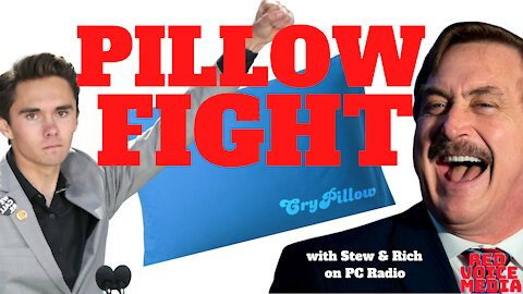 DAVID HOGG PILLOW BITER? INTRODUCING THE NEW 'CRY PILLOW', with Stew & Rich on PC Radio