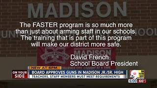 Madison school board OKs teachers carrying guns - Video