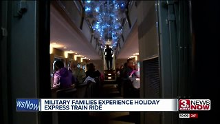 Military families experience holiday express train ride