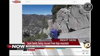 San Diego family being rescued from Baja mountain - Video