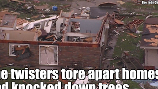 Indiana tornado levels a Starbucks - Video