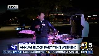 Enjoy Queen Creek's annual block party this weekend - Video
