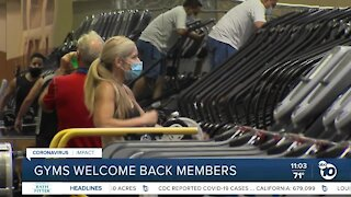 Gyms welcome back members