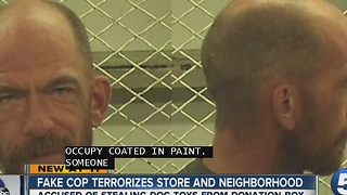 Fake Cop Terrorizes Store and neighborhood - Video