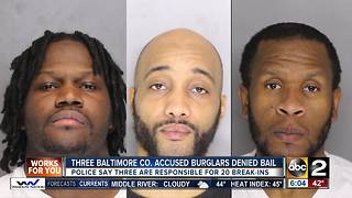 Baltimore Co Police ID, charge 3 burglary suspects - Video