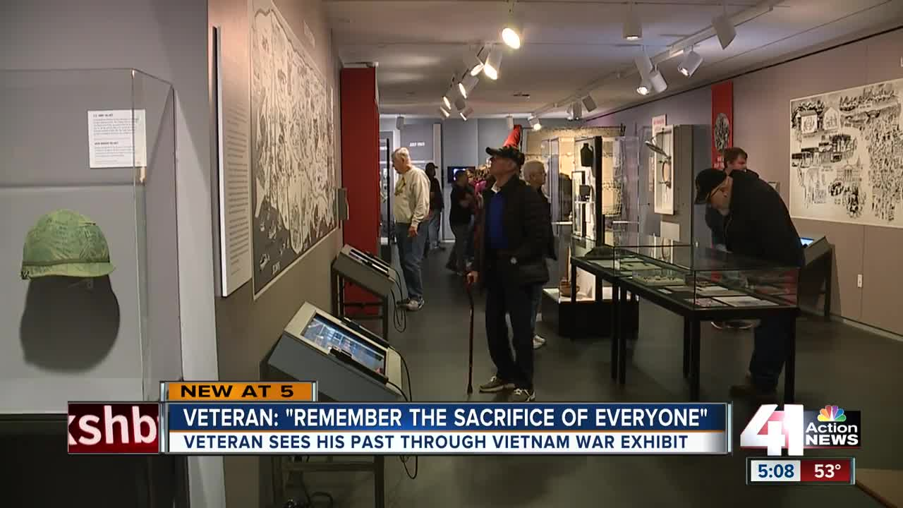 Vietnam War veteran reflects on new war exhibit