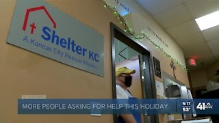 Shelter KC sees increased demand for Thanksgiving meals