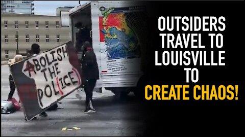 Protesters Descend On Louisville; U-Haul Van Appears With Ready-Made Supplies