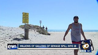 Millions of gallons of sewage spill into Imperial Beach coastline