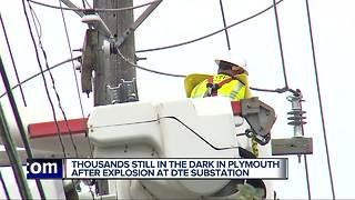 Residents in Plymouth coping without power as DTE works to repair substation - Video
