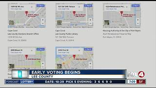 Early voting begins in Lee County - Video