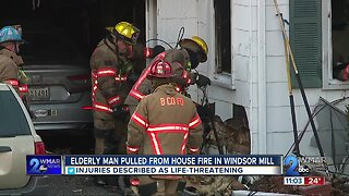 Elderly man pulled from house fire in Windsor Mill