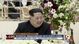 Potential breakthrough with North Korea