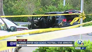 Former Dwyer High School football player arrested after Jupiter shooting, chase, crash - Video