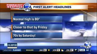 Wednesday forecast: Another day near 90 - Video