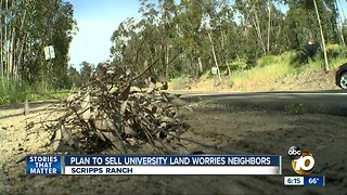 Plan to sell university land worries Scripps Ranch neighbors