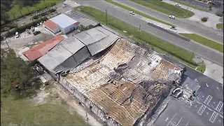 Drone Video Shows Florida Bowling Alley Destroyed Following Hurricane Irma - Video