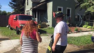 Neighbor credits divine intervention for saving Cleveland woman from house fire - Video