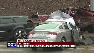Driver who ran out of gas on I-696 hit, killed by passing vehicle - Video