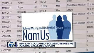 New law takes effect in July aimed at solving missing persons cases - Video