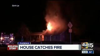 Abandoned house catches fire in Phoenix